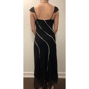 BCBGMaxAzria Dresses - BCBG Silk Flutter Sleeve Slip Dress - Size 10